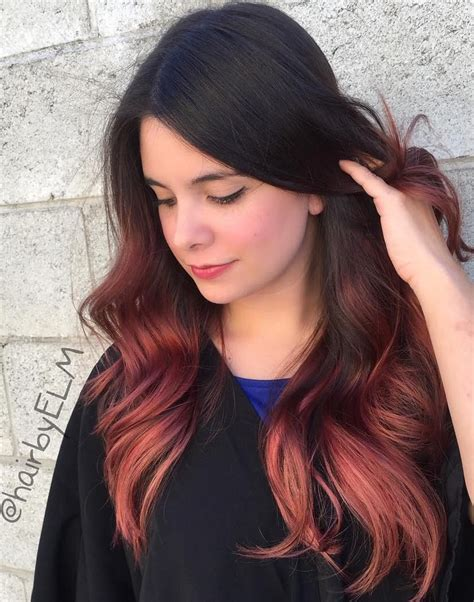 ambre hair 40 vivid ideas for black ombre hair red ombre hair red