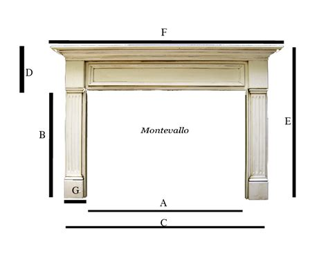 Fireplace Mantel Dimensions by The Mantel Shoppe