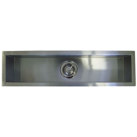 Kitchen Undermount Sink 42 Inch Stainless Steel Undermount Single Bowl Kitchen Bar Prep Sink Zero Radius Design