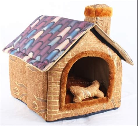 toy dog house new brick wall chimeny pet dog cat house beds kennel toy size m l xl in houses