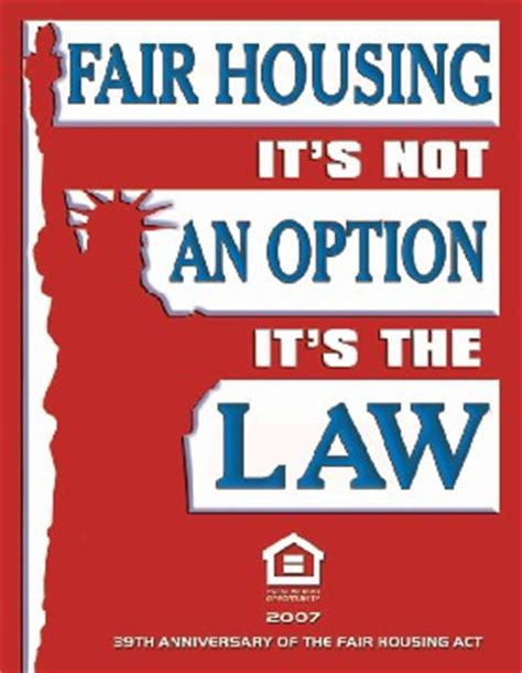 fair housing laws home sellers fair housing laws are not optional