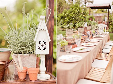 Garden Wedding Shower featured inside weddings vintage garden inspired