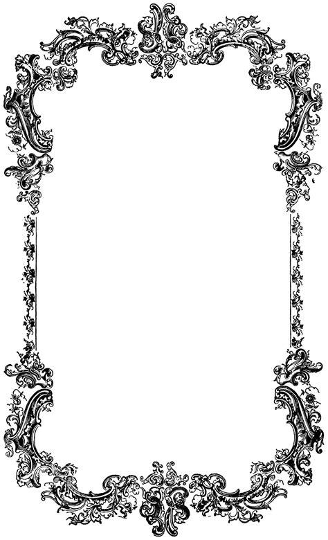 Vitrage Bordir decorative vintage border clip image oh so nifty