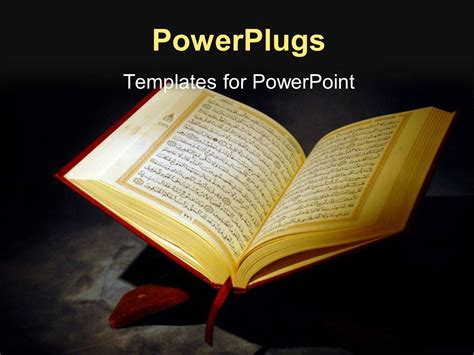 quran themes for powerpoint powerpoint template islamic holy quran depiction with