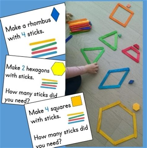 build a house math shapes game colors shapes making shapes from craft sticks kindergarten math