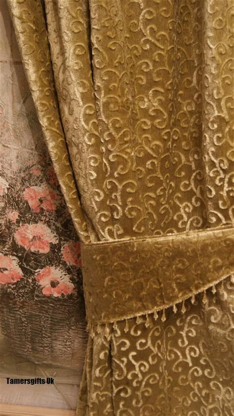 Beige Valances Gold Red Lilac Brown Natural Lined Velvet Curtains