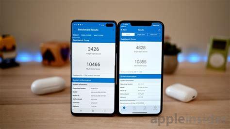 benchmark showdown samsung galaxy   iphone xs max