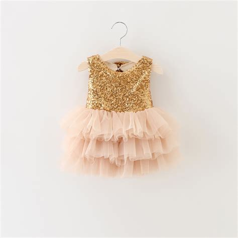 Dress Tutu Gold Size 4 6 Th aliexpress buy dresses for 2016 summer style gold sequins tutu event