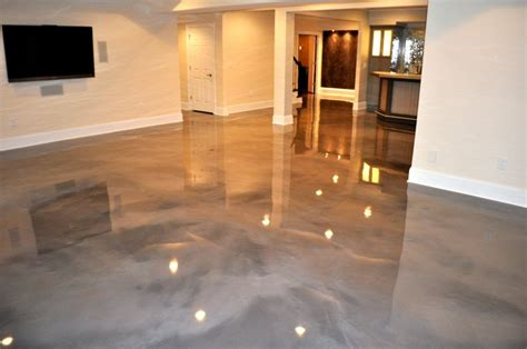 epoxy floor basement on