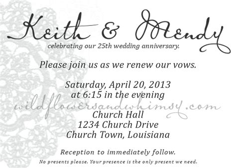 25th anniversary invitation card templates anniversary invitations 25th wedding