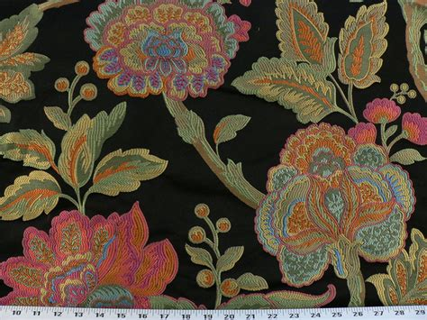 blue and green upholstery fabric drapery upholstery fabric floral pink orange green blue