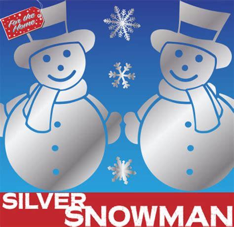 Snowman Silver silver snowman window clings snowman silver snowman