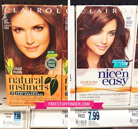 clairol ads current 2014 2 99 reg 8 clairol natural instincts hair color at