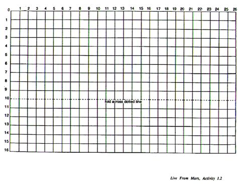 printable graph paper with ruler live from mars teacher s guide