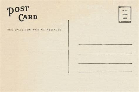 indietro testo indietro della cartolina in bianco vintage con spazio per
