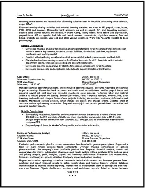 financial analyst resume exle finance resume sles 23 free word pdf documents