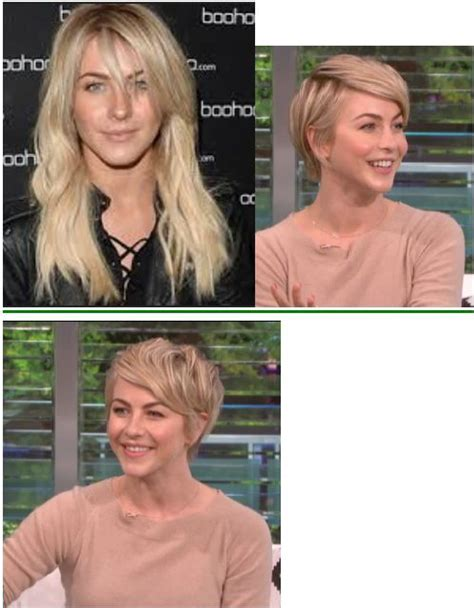 before and after long to short hair julianne hough new pixie before and after haircut long