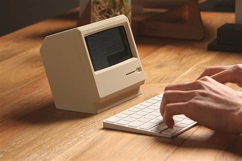 nightstand phone charger this retro mac shaped iphone stand looks nice but is kind