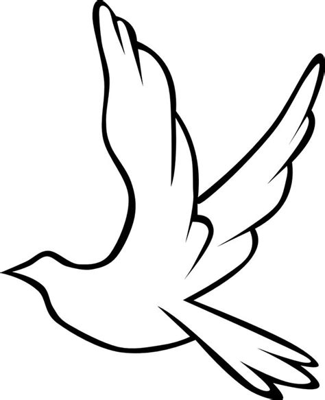 coloring pages dove bird dove bird drawing clipart best