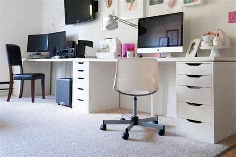 linnmon tabletops and alex drawers workspace