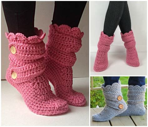 16 high knee crochet slipper boots patterns to keep your