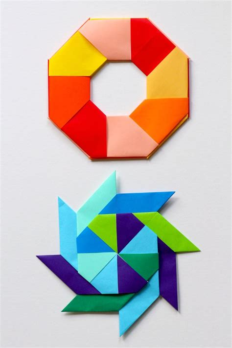 Origami In Mathematics - awesome math transforming origami paper
