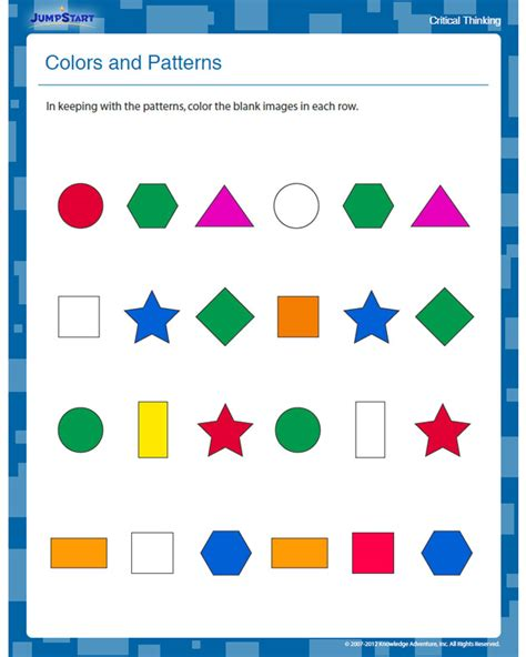 Colors Patterns To Jump Start The Weekend by Colors And Patterns View Free Critical Thinking