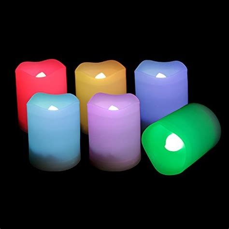 Battery Operated Candles That Change Colors by Candle Choice Set Of 6 Indoor And Outdoor Remote