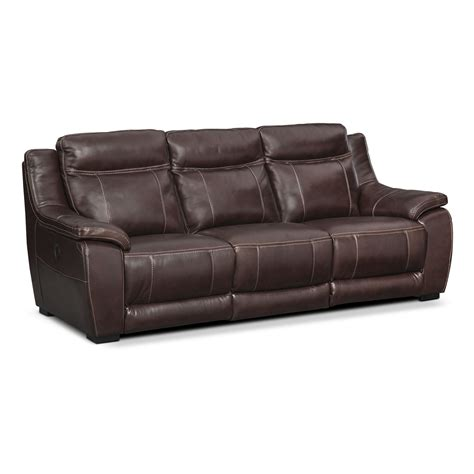 Power Reclining Sofa Set Lido Power Reclining Sofa And Reclining Loveseat Set Brown American Signature Furniture