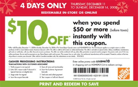 home depot coupon 10 coupon specialist
