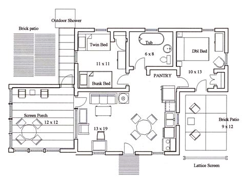 Kitchen Floor Plans With Islands The Island House Floor Plan