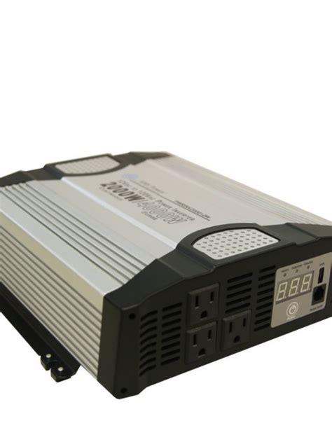 Solar Smart Power Inverter 2000watt 12v With Led Indikator Suoer aims pwrinv200012w 2000 watt 12v power inverter inverters r us