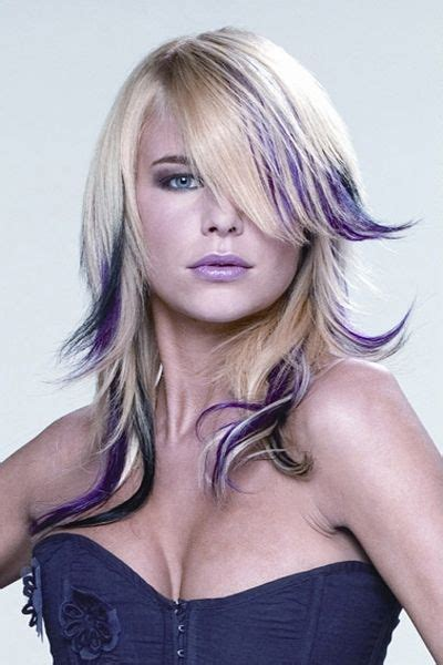 blonde edgy hairstyles edgy blonde and purple straight haircut hair pinterest