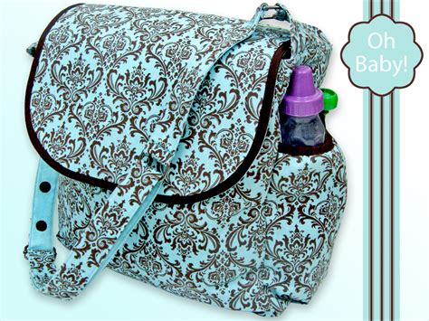 Free Pattern Diaper Bag   oh baby with fabric com beautiful diaper bag sew4home
