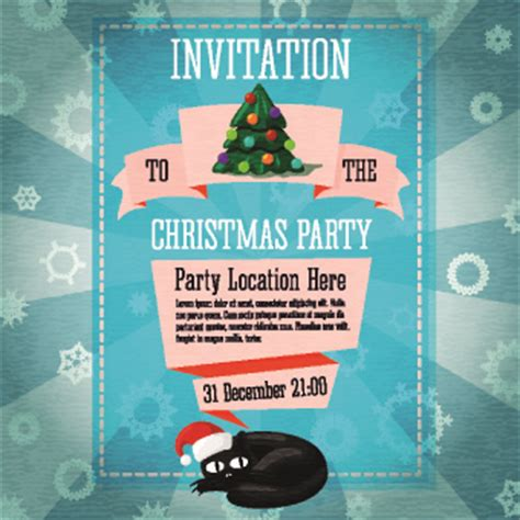 birthday party invitation clip art free vector download