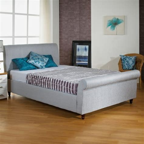 Grey Sleigh Bed Frame Hf4you Upholstered Sleigh Bed Frame Grey No Mattress