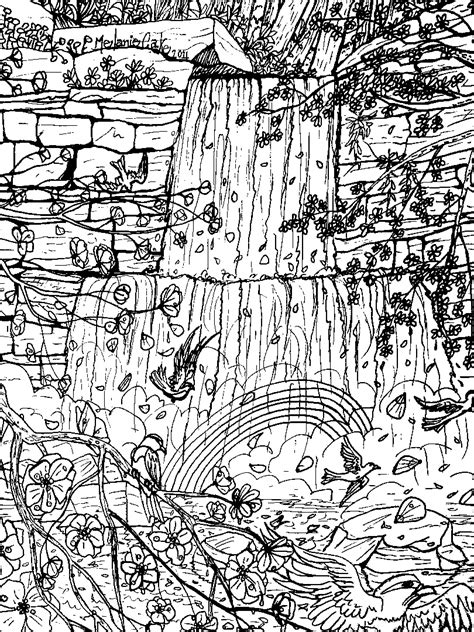 waterfall coloring pages waterfall free colouring pages