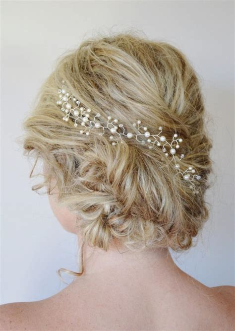 hairstyles with hair vines pearl crystal hair vine wedding hair accessories
