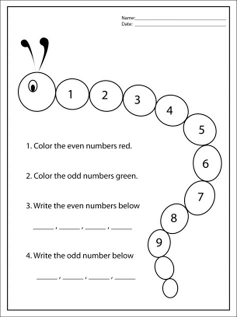 free printable math worksheets even odd odd and even numbers st grade math worksheets number