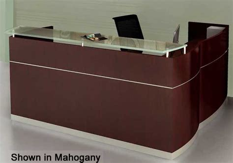 Napoli Reception Desk L Shaped Napoli Reception Desk With Drawers