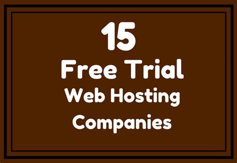 trial hosting companies   credit card