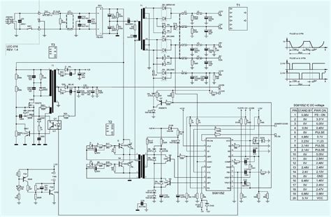 kob ap4450xa 450w atx power supply schematic