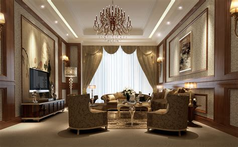 luxury living room 3d model max cgtrader com design european luxury villa living room