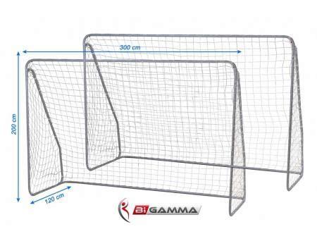 misura porta calcio set di 2 porte da calcio regolamentari mod goal