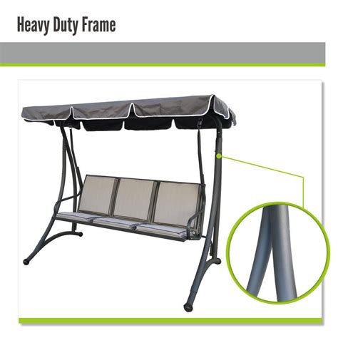 three seater swing seats outdoor furniture outdoor 3 seat swing chair canopy hanging chair garden