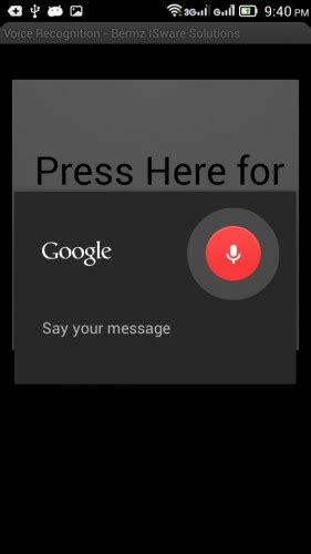 dictation for android android voice recognition app with code free it codes it projects