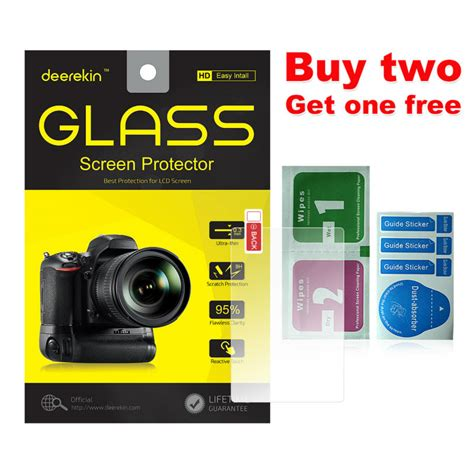 Tempered Glass Screen Protector Pelindung Layar Lcd Monitor Canon 550d deerekin 9h tempered glass lcd screen protector for