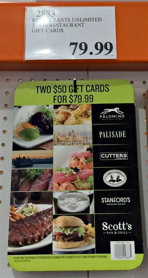 Cheap Restaurant Gift Cards - costco gift card save on dining entertainment and gifts thrifty nw mom