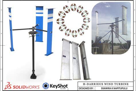 solidworks tutorial wind turbine h darrieus wind turbine step iges solidworks 3d cad