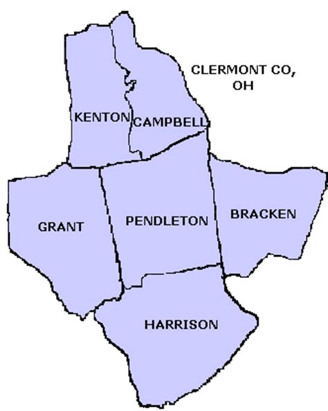 kentucky map formation pendleton co ky formation